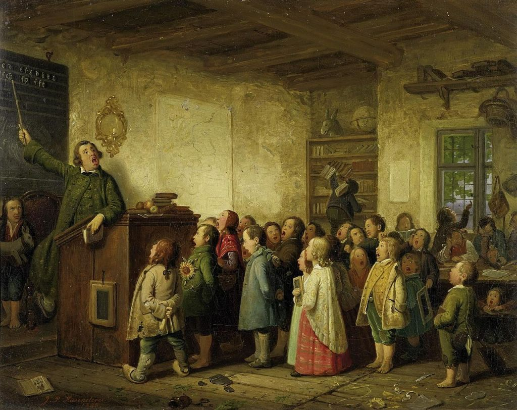 1280px-Johann_Peter_Hasenclever_-_Die_Dorfschule